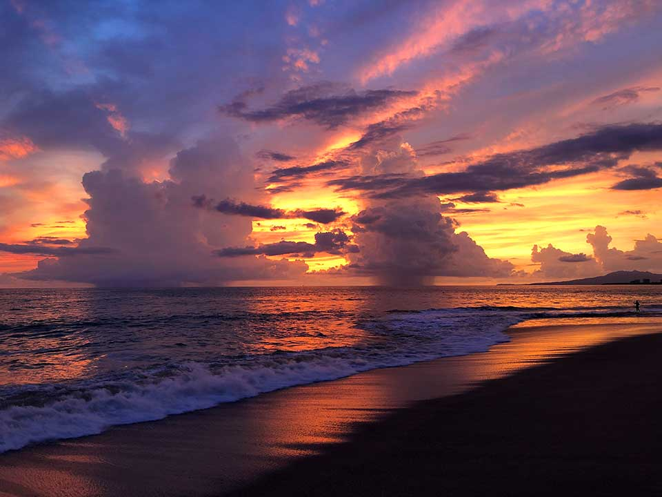 sunset clouds at beach