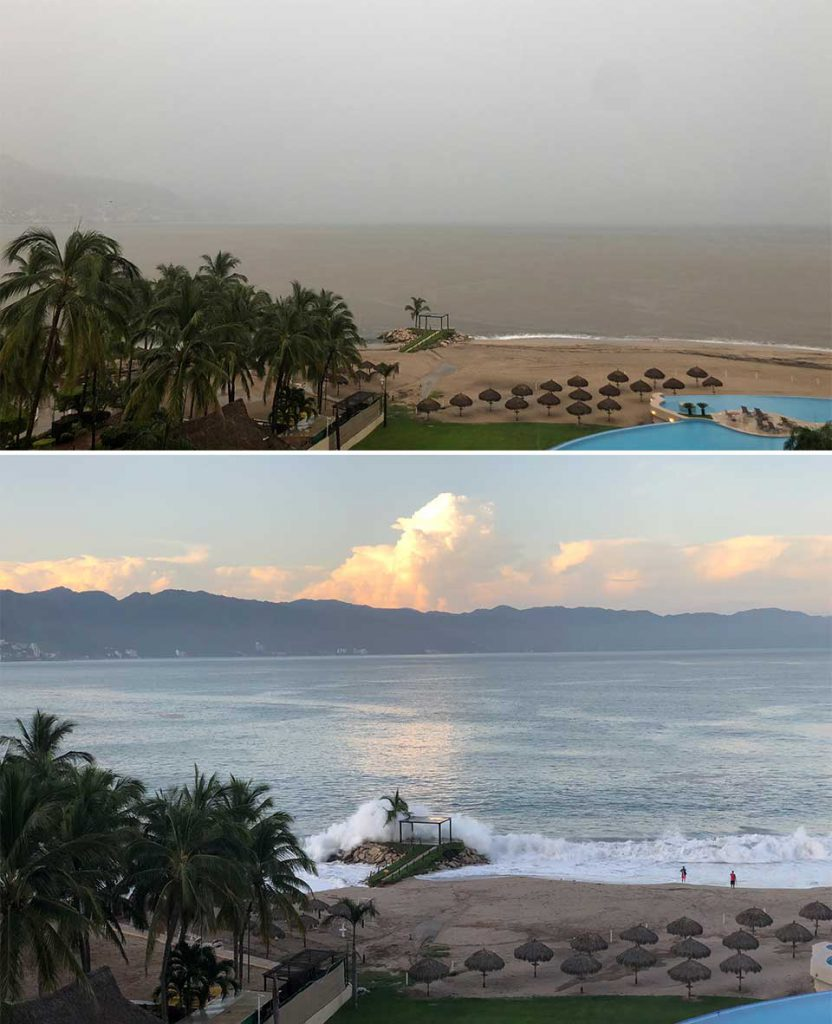 Banderas Bay, during/after hurricane Lorena