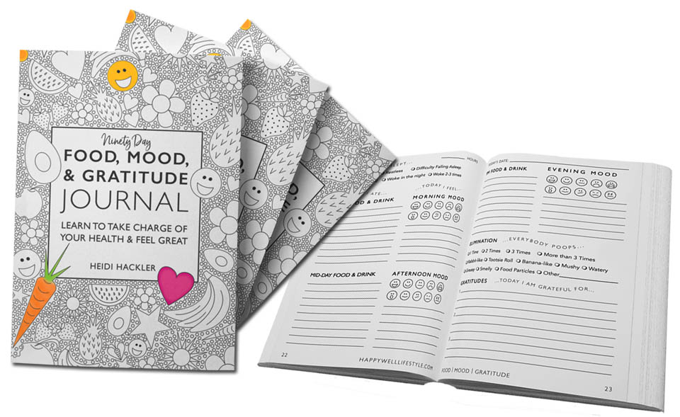 Heidi's new Food, Mood, & Gratitude Journal