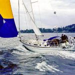 s/v Due West, spinnaker run, Port Townsend, WA