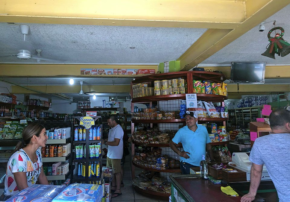 inside the Hawaii Super store in Melaque, Mexico