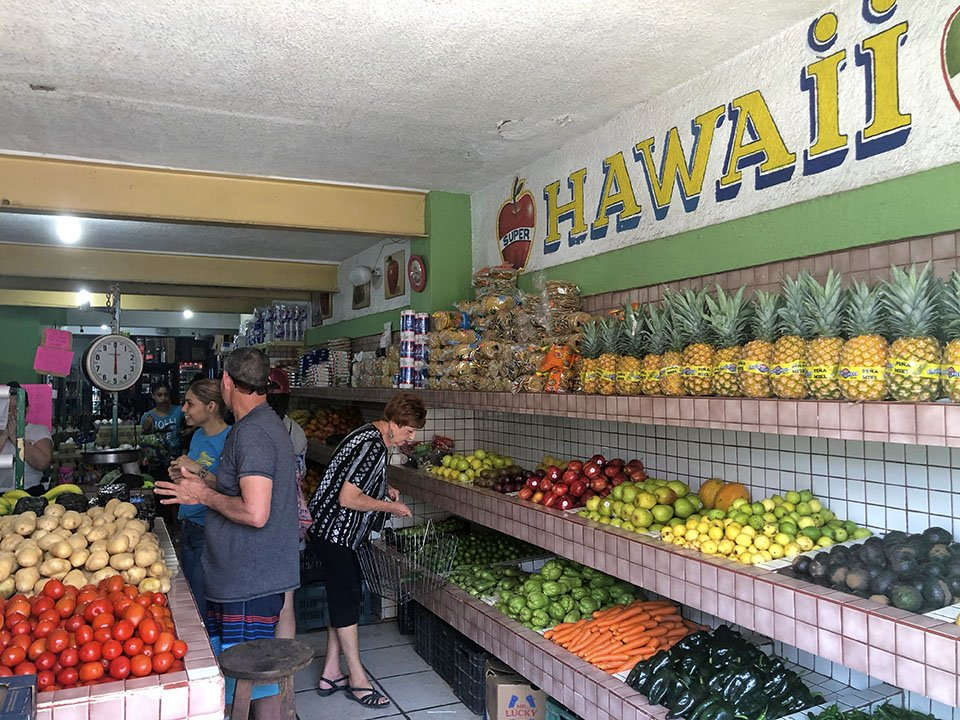 provisioning for a pandemic, Hawaii Super in Melaque, Mexico