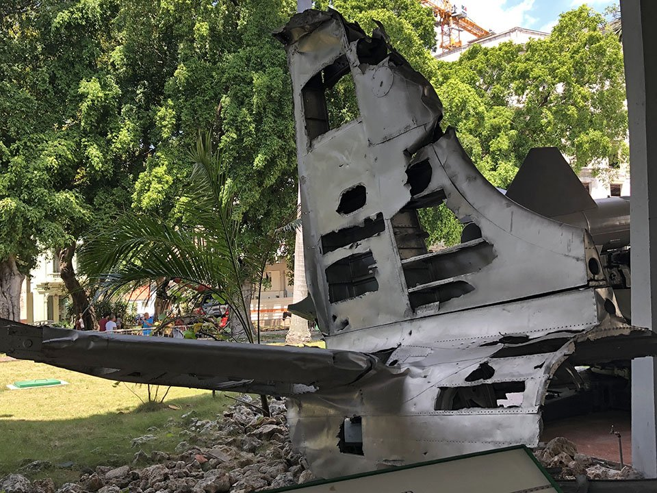 A-26 tail from Bay of Pigs